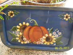 Fall tray painted by Bonnie