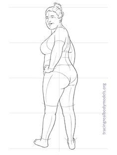 Fashion Body Template Silhouette   ... body models, 33 fashion figure templates   Tracing Real Body Models