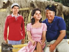 "Colorized frame from one of my favorite (originally black-and-white) Gilligan's Island episodes, ""How to Be a Hero."""