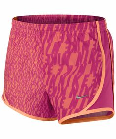 Nike - Girls Laufshort Tempo GFX Short #running #shorts #motivation
