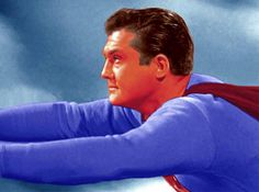 George Reeves as Superman First Superman, Superman Man Of Steel, Batman Vs Superman, Superman Stuff, Superman Photos, Classic Tv, Classic Films, 1950s Movie Stars, Steel Dc Comics