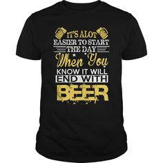 (Top Tshirt Charts) It will end with beer at Facebook Tshirt Best Selling Hoodies, Funny Tee Shirts