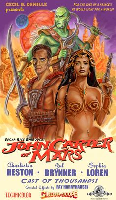 John Carter of Mars by Cecil DeMille Poster by ScaleyScribe.deviantart.com on @deviantART