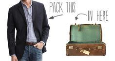 How to: The Best Way to Fold a Suit or Sport Coat for Travel