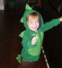 dinosaur costume (from a hooded sweatshirt)