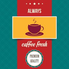 vintage coffee poster Free Vector