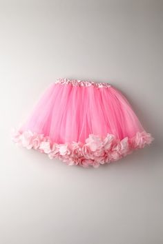 Mia Belle Baby Pink Tutu Skirt with Petals