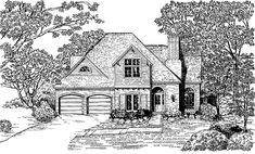 Eplans French Country House Plan - Entice Guests with Interesting Design - 1858 Square Feet and 3 Bedrooms from Eplans - House Plan Code HWEPL08930