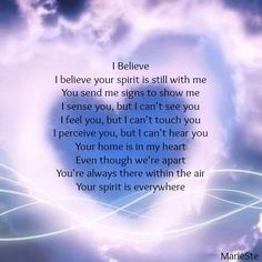 Your spirit IS everywhere...many of us share those moments of feeling it. You are deeply loved and so very much a part of our thoughts