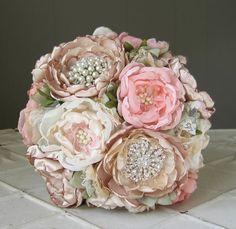 Ramo de la boda de tela personalizados flor broche para NICOLE