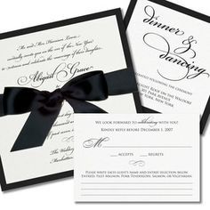 There is something elegant about just black and white. Introduce your wedding color to your guests, starting with the invitation.