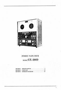 Akai GX-260-D  reel to reel tape recorder Service Manual 100 satisfaction guaranteed  100 Virus DOWNLOAD