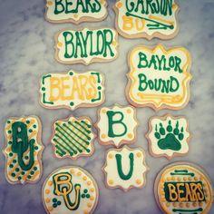 Custom Baylor Bound graduation cookies! #SicEm