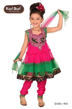 Stori would strut her stuff in this! Kids Indian Wear, Indian Girls, Baby Girl Dresses, Baby Dress, Indian Dresses, Indian Outfits, Sari Shop, Buy Sarees Online, Toddler Dress