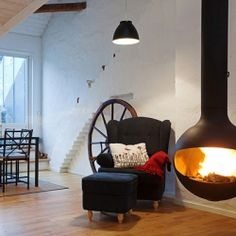 Spacious and cozy loft in Sweden with plenty of unique and fun features, take a look!