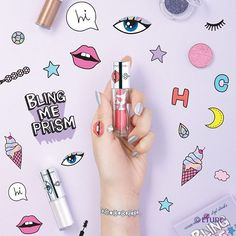 Etude House x High Cheeks - Bling Me Prism Collection Swatches Makeup Package, Cosmetic Design, E-mail Marketing, Beauty Review, Beauty Ad, Korean Makeup, Korean Beauty, Cosmetic Packaging, Prism Color