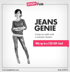 Put together a look that features jeans and you could win the Jeans Genie fashion mission. We now have TWO new ways to win: Editor's Choice and Top New Stylist. If you haven't entered a mission yet, you have a good chance to WIN!