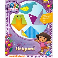 DORA THE EXPLORER Origami-  Age 5+. Includes Instruction Booklet, Origami Sheets, Pen, Ruler