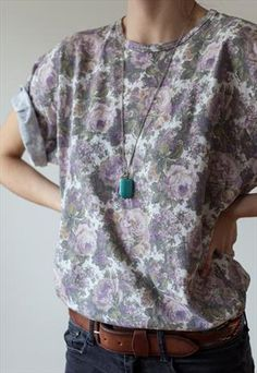 I need ❤️Vintage tshirt florals psyche shoeagaze 1990 90s | Marqueemoon | ASOS Marketplace (£12.00)