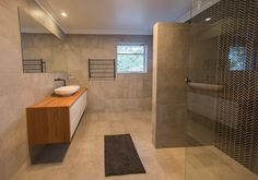 A Beautiful ensuite design and extremely tasteful as well. There's a hidden cistern wc behind the shower wall.in the new home construction by Camorino Constructions Perth Western Australia, New Home Construction, New Homes, Shower, Wall, Beautiful, Design, Rain Shower Heads, New Home Essentials