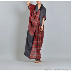 Buy Linen Dresses For Women from VIVIDLINEN at StyleWe. Online Shopping Stylewe Cross Front Red Linen Dress Shift Daily Linen Cloth Half Sleeve Casual Linen Slit Checkered/Plaid Linen Cloth, The Best Daytime Linen Dresses. Plaid Fashion, Hijab Fashion, Boho Fashion, Fashion Design, Linen Dresses, Casual Dresses, Elisa Cavaletti, Gowns Of Elegance, Pattern Fashion