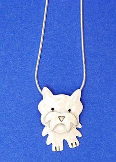 Westie Sterling Silver & Enamel Necklace by Jane and Anne Harvey