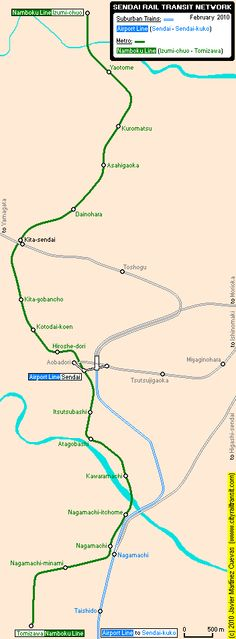 Die U-Bahn ist das Verkehrssystem der Stadt Sendai, die Teil des Miyagi Distrikt in Japan ist. Sie steht unter der Leitung vom City Transportation Bureau of Sendai. Die U-Bahn von Sendai verbindet den Taihaku-ku Central Distrikt mit dem Izumi-Chuo Distrikt und den Vororten von Izumi-ku. #sendai #japon #subway #metro #u-bahn