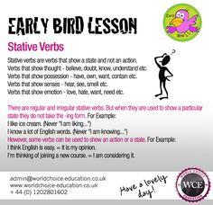 Stative verbs @wceducation