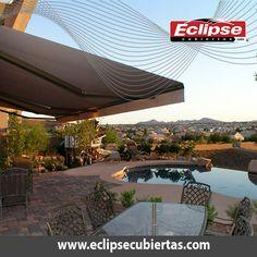 toldo retráctil ideal para terrazas #mallasombra #tensoestructuras #eclipsecubiertas www.eclipsecubiertas.com