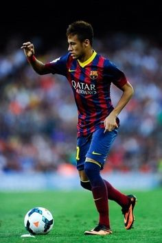 Neymar entrou em campo quando o Barcelona já vencia o Levante por 7 a 0. O brasileiro ficou 30 minutos no jogo. Getty Images. 18/08/2013.