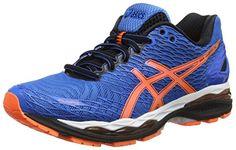 ASICS Gel-nimbus 18, Herren Laufschuhe, Blau (electric Blue/hot Orange/black 3930), 41.5 EU - http://on-line-kaufen.de/asics/41-5-eu-asics-gel-nimbus-18-herren-laufschuhe