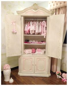Shabby chic dresser nursery closet  #MJCdreamcloset #matildajaneclothing