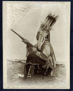 European Man Dressed In Blackfoot Regalia. n.d.
