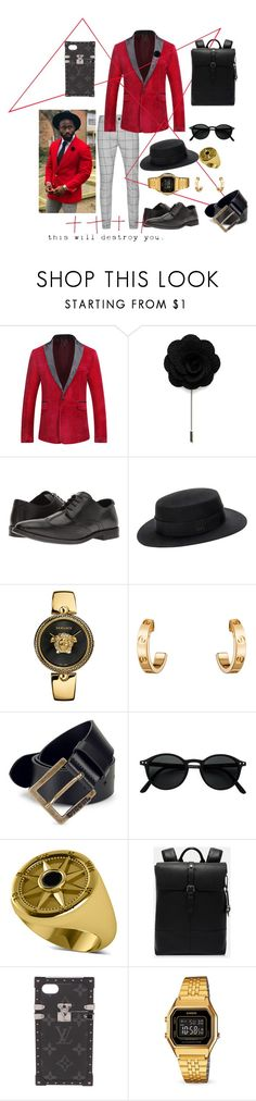 """Beautiful Demon"" by shikinley-rena ❤ liked on Polyvore featuring Topman, Steve Madden, Versace, Cartier, Diesel, Allurez, Ted Baker, Louis Vuitton, Casio and modern"