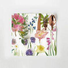 Isolation Garden Set of 2 Cutlery Pockets - Bluebellgray Bluebellgray, Cutlery Holder, Daffodils, Poppies, Appreciation, Special Occasion, Daisy, Garden, Floral