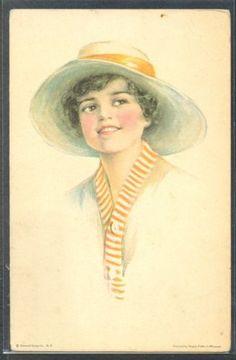 PX011-ART-DECO-a-s-PEARLE-FIDLER-LEMUNYAN-BEAUTIFUL-LADY-HAT-AMERICAN-GIRL-104