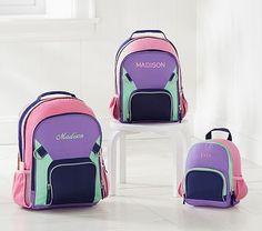 Fairfax Lavender Color-Block Backpack  pbkids Girl Backpacks f9e4b5b80ece7