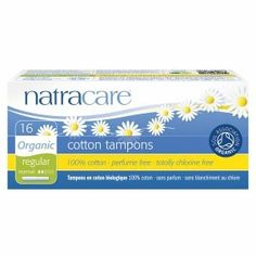 Organic 100% Cotton Tampons With Applicator Regular - 16 Pack