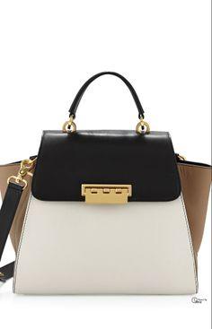 Zac Posen 2014 ● Eartha Top Handle Color-block Leather Bag