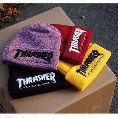 Cheap female beanies, Buy Quality hat female directly from China winter cap Suppliers: 2016 Men's Winter Caps Thrasher Cotton Warm Knitted Men Women Hot Hip Hop Men Womens Casual Hat Female Beanies Hipster Outfits, Grunge Outfits, Trendy Outfits, Cool Outfits, Fashion Outfits, Punk Fashion, Cute Beanies, Cute Hats, Beanie Outfit