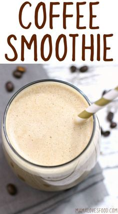 If you're in the mood for a coffee smoothie, but don't want to blow your diet out of the water, this easy coffee smoothie recipe is just the thing for you! Smoothie With Coffee, Smoothie With Greek Yogurt, Smoothies With Coconut Milk, Healthy Coffee Smoothie, Whole 30 Smoothies, Healthy Morning Smoothies, Almond Milk Smoothie Recipes, Coffee Breakfast Smoothie, Vegetarian Smoothies