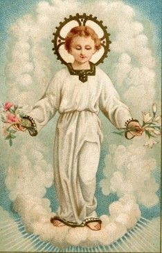 Child Jesus from a holy card.  I always find this age endearing.