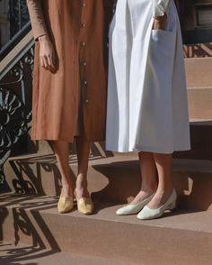 amber & white cotton dresses