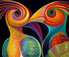 Motifs Art Nouveau, Wal Art, Diamond Paint, Art Sculpture, Cross Paintings, Art Moderne, Bird Art, Painting Inspiration, Watercolor Art