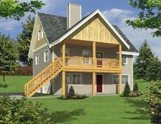 Garage Apartment Plan or Weekend Getaway Garage Workshop Plans, Garage House Plans, Small House Plans, Diy Garage, House Floor Plans, Workshop Ideas, Garage Ideas, Garage Loft, Garage Shop