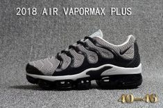 cd66032ac0 Mens Nike Air Vapormax Plus KPU TN + 2018 Wolf Grey Black Casual Sneakers Nike  Air