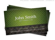 Green Texture Business Card Template - http://www.welovesolo.com/green-texture-business-card-template/