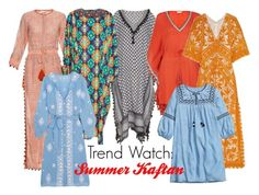 """""""Trend Watch: Summer Kaftan"""" by luxurycitizen ❤ liked on Polyvore featuring Talitha, Andrew Gn, Tory Burch, H&M and Melissa Odabash"""