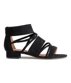 Sandaler med hæl | Sort | Dame | H&M DK