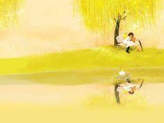 Romantic Style : Mizzi Illustrations  - Butterfly Girl - Dreamy & Elegant Mizzi Illustration Wallpaper  11